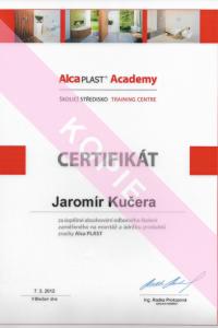 Alca Plast certifikát
