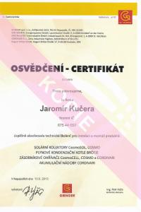 Solární konzoly atd.certifikát